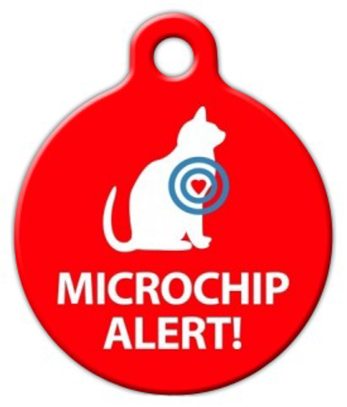 Dog Tag Art Microchip Alert Cat Pet ID Dog Tag