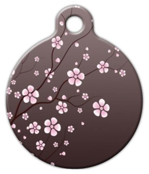 Dog Tag Art Asian Cherry Blossom Pet ID Dog Tag