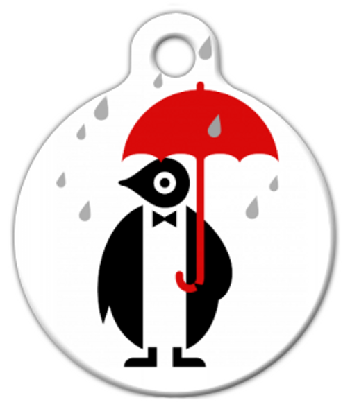 Dog Tag Art Global Warming Penguin Pet ID Dog Tag