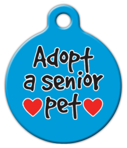 Dog Tag Art Adopt A Senior Pet ID Dog Tag