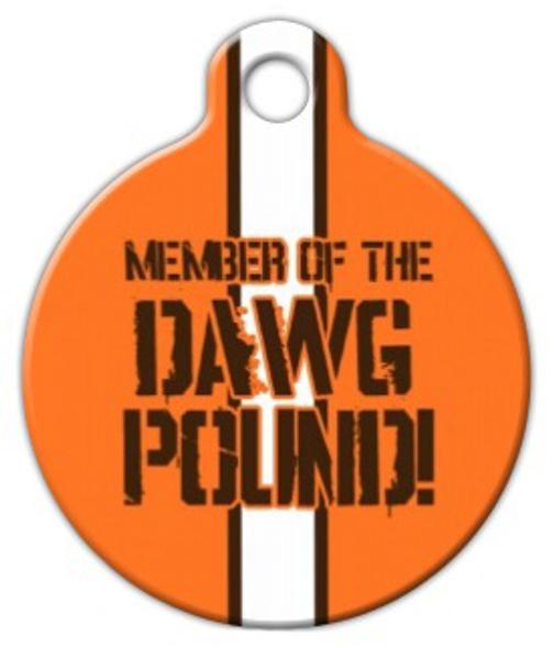 Dog Tag Art Dawg Pound Browns Pet ID Dog Tag