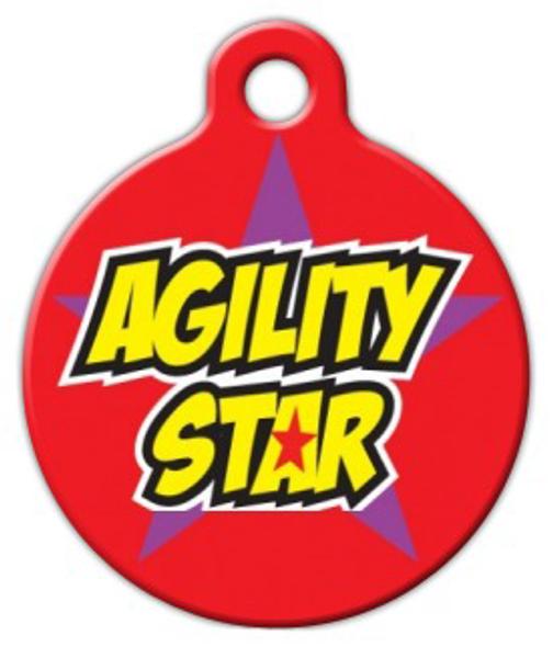 Dog Tag Art Agility Star Pet ID Dog Tag