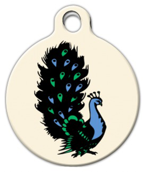 Dog Tag Art Classic Peacock Tattoo Pet ID Dog Tag