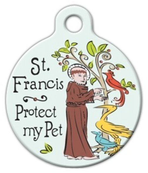Dog Tag Art St. Francis Protection Medal Pet ID Dog Tag
