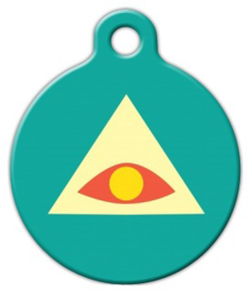 Dog Tag Art All Seeing Eye Fashion Pet ID Dog Tag