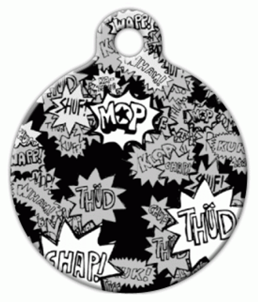 Dog Tag Art Comic Action Pet ID Dog Tag