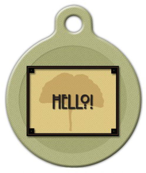 Dog Tag Art Craftsman Style Hello Pet ID Dog Tag