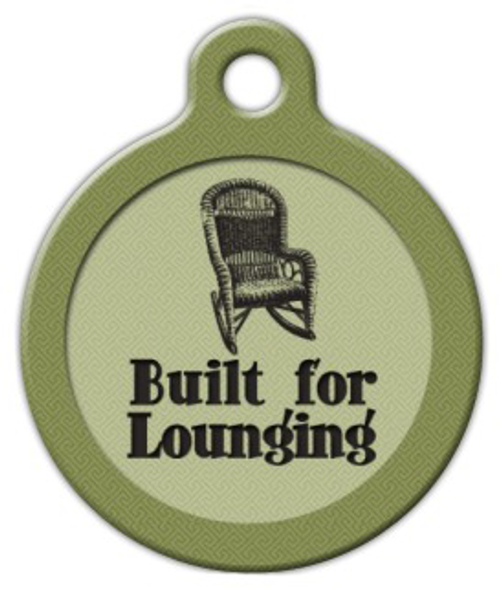 Dog Tag Art Built for Lounging Pet ID Dog Tag