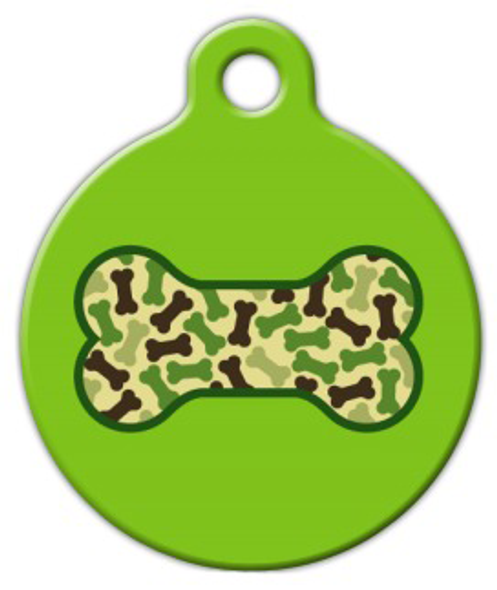 Dog Tag Art Army Bone Pet ID Dog Tag