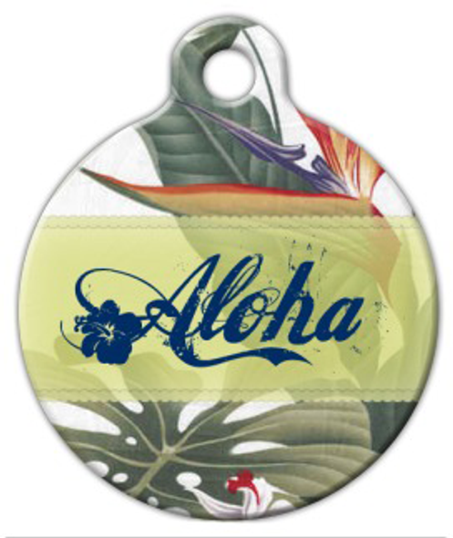 Dog Tag Art Aloha Pet ID Dog Tag