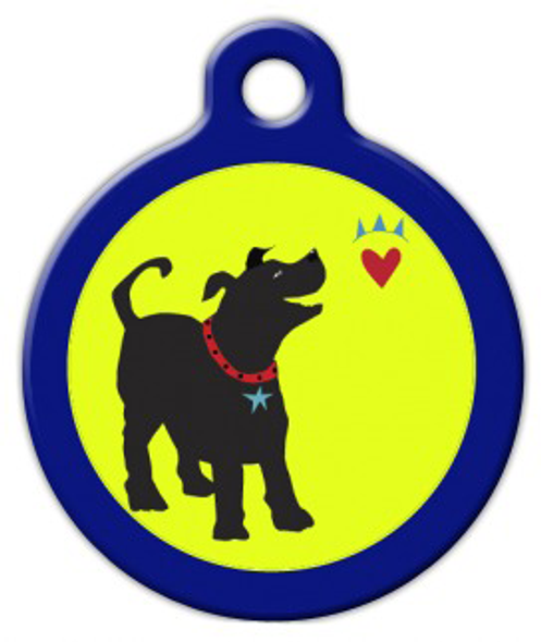 Dog Tag Art Bark from the Heart Pet ID Dog Tag