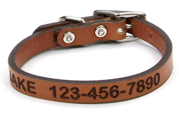 Circle T Leather Oak Tanned Dog Collar Personalized (1103LE)