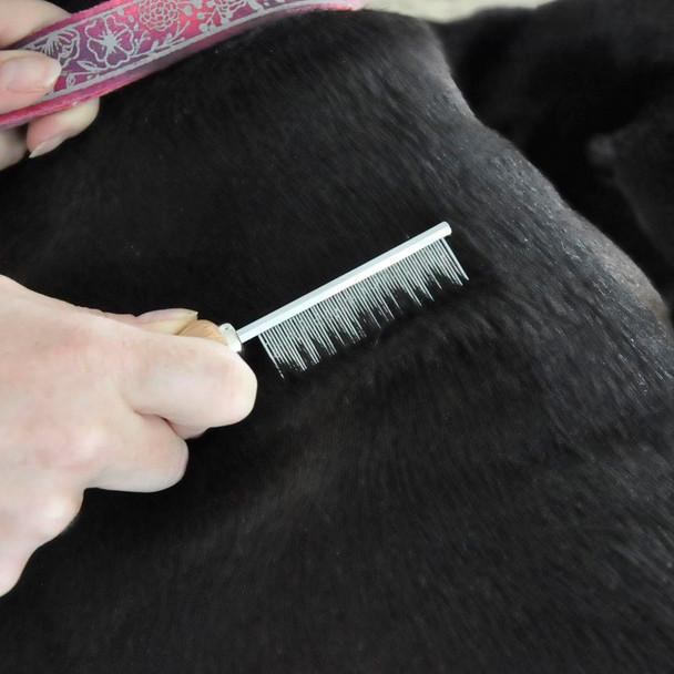 Safari® Flea Dog Comb Wooden Handle
