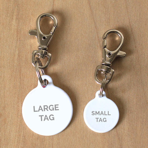 Dog Tag Collar Attachment - Trigger Snap Clip Swivel  On Tag Samples