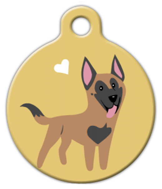 Dog Tag Art Belgian Malinois Doggie Pet ID Dog Tag