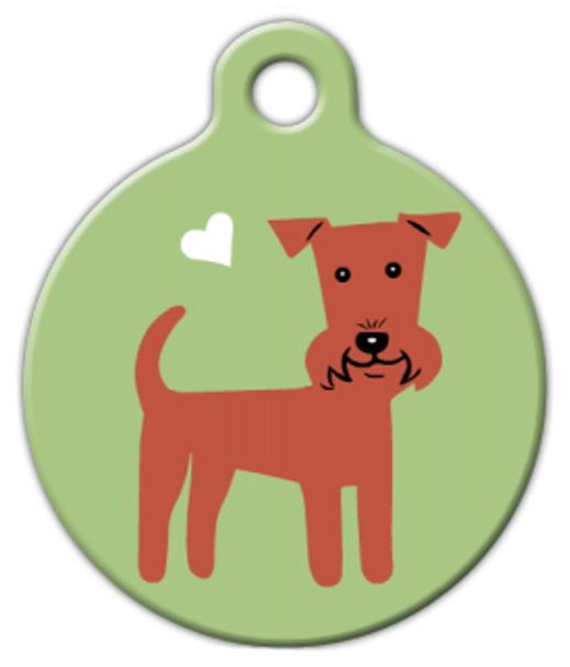 Dog Tag Art Irish Terrier Doggie Pet ID Dog Tag