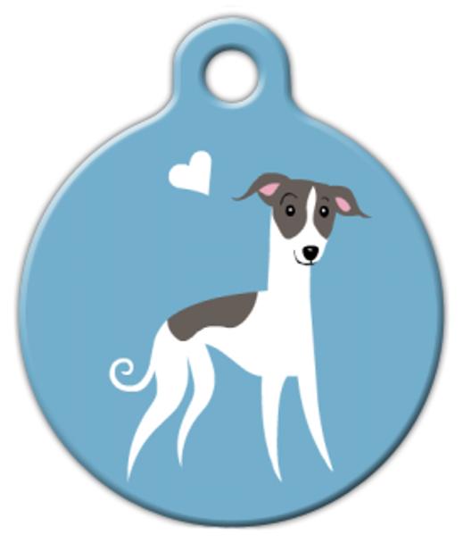 Dog Tag Art Whippet Doggie Pet ID Dog Tag