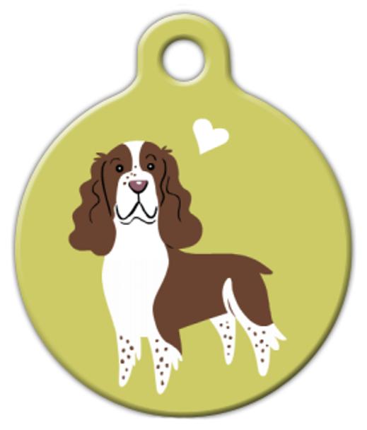 Dog Tag Art English Springer Spaniel Doggie Pet ID Dog Tag