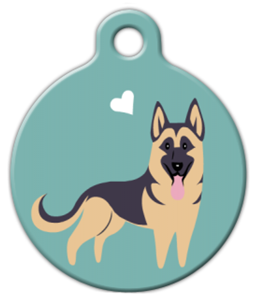 Dog Tag Art German Shepherd Doggie Pet ID Dog Tag