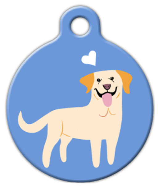 Dog Tag Art Yellow Labrador Doggie Pet ID Dog Tag