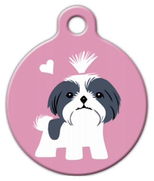Dog Tag Art Shih Tzu Doggie Pet ID Dog Tag