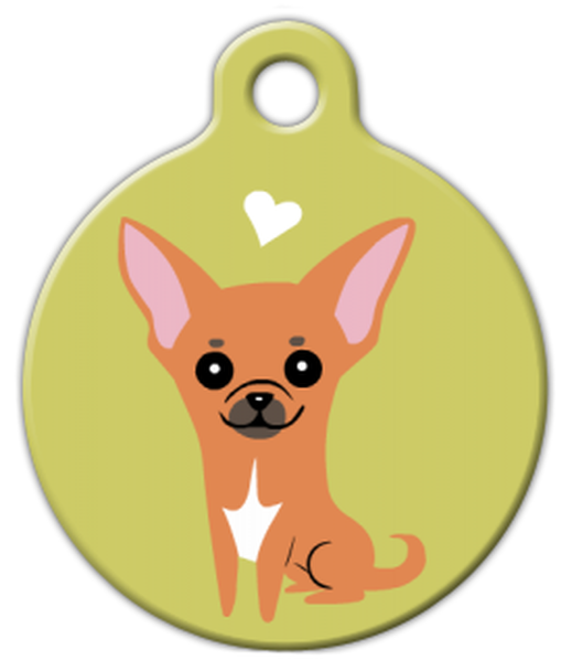 Dog Tag Art Chihuahua Doggie Pet ID Dog Tag
