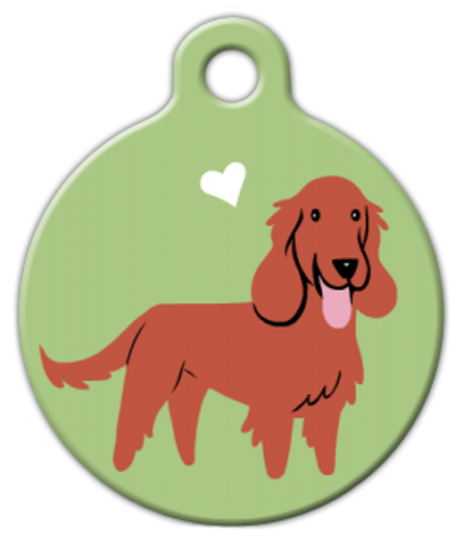 Dog Tag Art Irish Setter Brown Doggie Pet ID Dog Tag