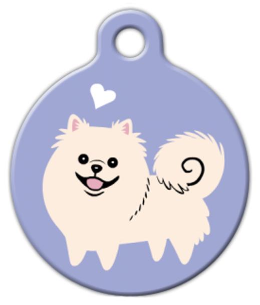Dog Tag Art Pomeranian Doggie Pet ID Dog Tag