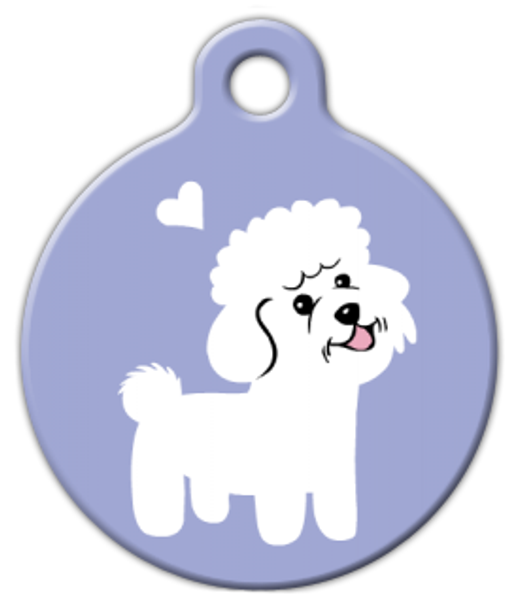 Dog Tag Art Bichon Frise Doggie Pet ID Dog Tag
