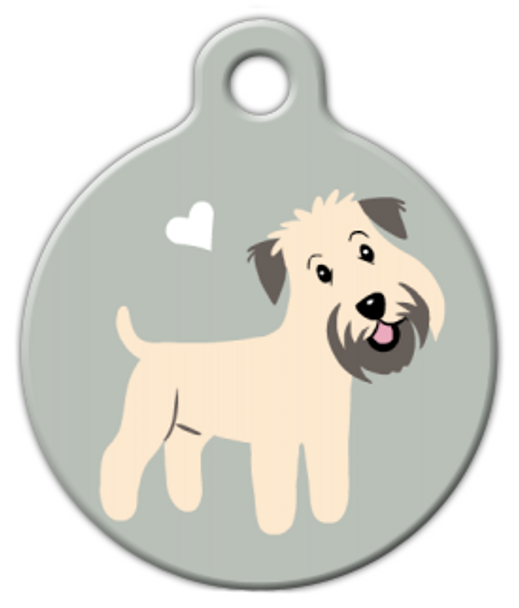 Dog Tag Art Wheaten Terrier Doggie Pet ID Dog Tag