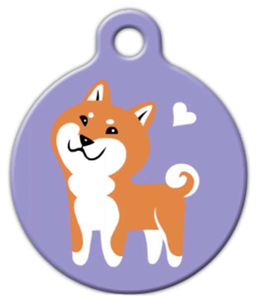 Dog Tag Art Shiba Inu Doggie Pet ID Dog Tag