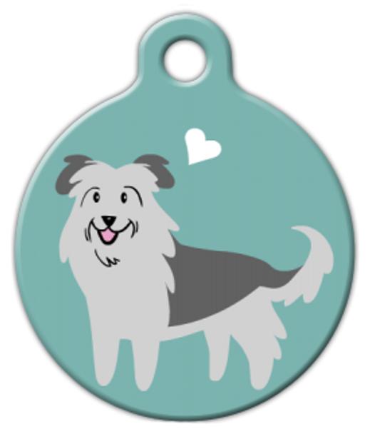 Dog Tag Art Pyrenean Sheepdog Doggie Pet ID Dog Tag