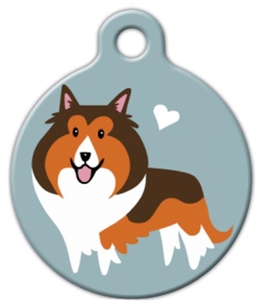 Dog Tag Art Sheltie Doggie Pet ID Dog Tag