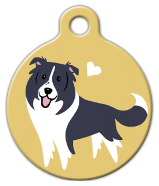 Dog Tag Art Border Collie Doggie Pet ID Dog Tag