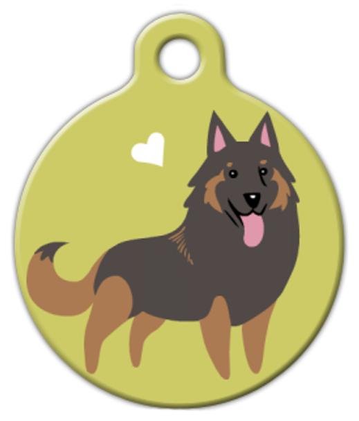 Dog Tag Art Tervuren Doggie Pet ID Dog Tag