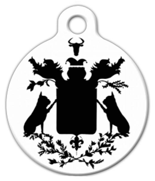 Dog Tag Art French Bulldog Coat of Arms Pet ID Dog Tag