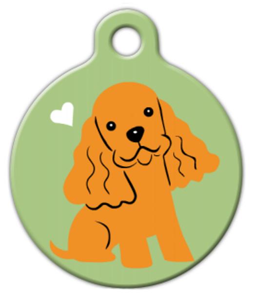 Dog Tag Art Cocker Spaniel Doggie Pet ID Dog Tag