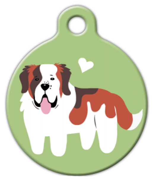 Dog Tag Art Saint Bernard Doggie Pet ID Dog Tag