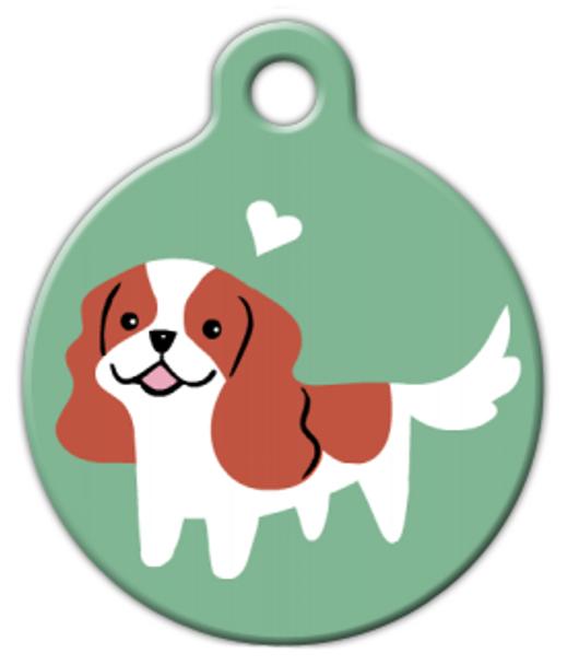 Dog Tag Art Cavalier Spaniel Doggie Pet ID Dog Tag