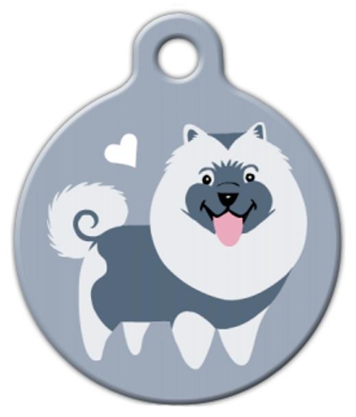 Dog Tag Art Keeshond Doggie Pet ID Dog Tag
