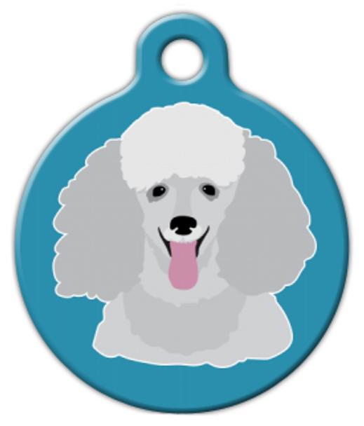 Dog Tag Art Poodle Face Pet ID Dog Tag