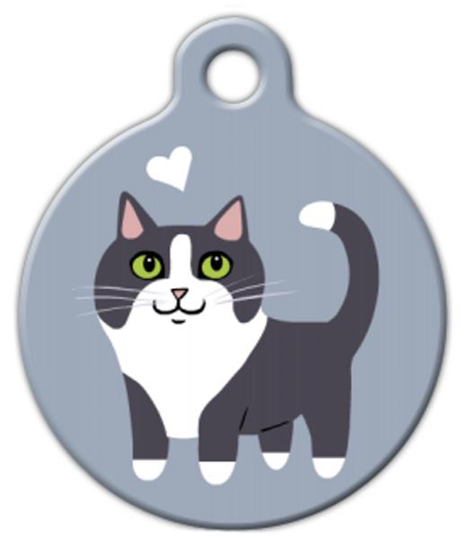 Dog Tag Art Tuxedo Kitty Cat Pet ID Dog Tag