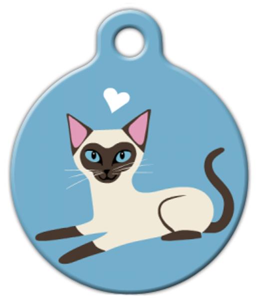 Dog Tag Art Siamese Kitty Pet ID Dog Tag