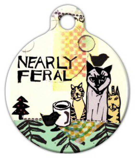 Nearly Feral Pet ID Dog Tag