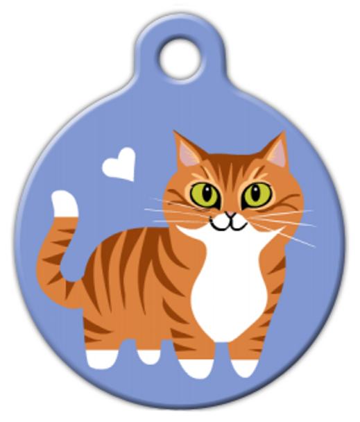 Dog Tag Art Orange Tabby Cat Pet ID Dog Tag