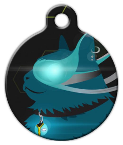 Dog Tag Art CyberCat Pet ID Dog Tag