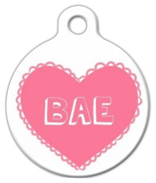 Dog Tag Art BAE Valentine's Day Pet ID Dog Tag