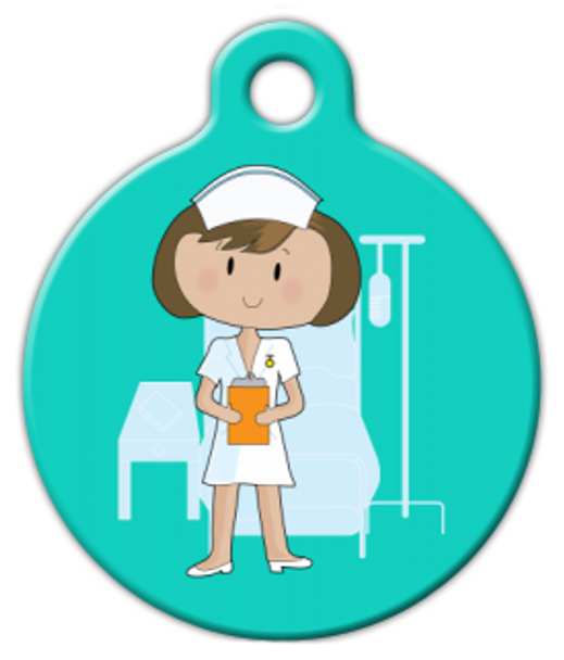 Dog Tag Art Nurse Cutie Pet ID Dog Tag