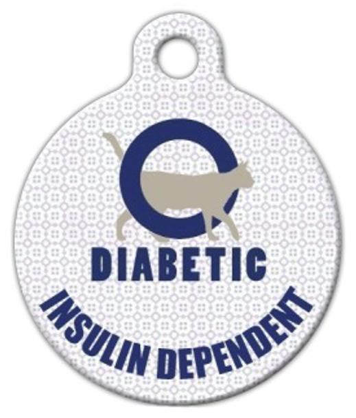 Dog Tag Art Diabetic Alert Cat Pet ID Dog Tag