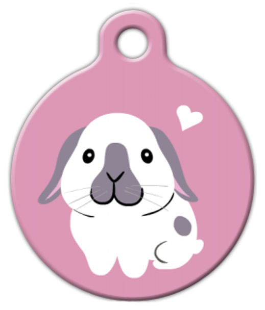 Dog Tag Art Holland Lop Bunny Pet ID Dog Tag